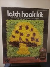 Vintage Yki Valiant Yarn Latch Hook Rug Kit 9638 Mushroom New Wall Hanging Rug