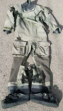 RAF Typhoon Immersion Suit Coverall Aircrew DrySuit with Rubber Boots