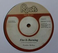 """FREDDIE McKAY - Fire Is Burning /Lonely Man 12"""" Vinyl ROOTS FROM THE YARD REGGAE"""