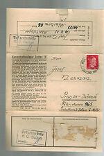 1943 Germany Dachau Concentration Munich 68 Sub Camp Cover Prague Josef Neuman