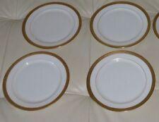 5 ANTIQUE MARTIN LIMOGES RAISED GOLD DECORATION BREAD PLATES