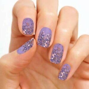 Color Street Nail Polish Strips Mediterranean Lavender HTF Retired Rare Glitter