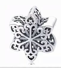 925 100% Solid Sterling Silver Charm EURO Bracelet Snowflake Pandora's Bliss