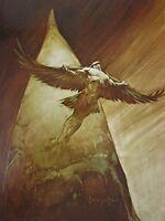 Vintage Frank Frazetta Art BIRDMAN 1972 Full Color Plate Icarus Valkyrie Angel