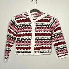 GYMBOREE Girls 5-6 Fair Isle Hooded Button Front Cardigan Sweater