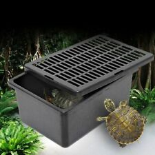Plastic Reptile Feeder Case Feeding Breathable Grid For Turtle Lizard Snake Cage
