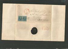 1866 NETHERLANDS FRANKED FOLDED LETTER TO HAARLEM WAX SEALED.