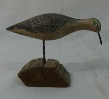 Vintage Wooden Carved, Painted Small Shore Knot Bird
