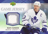 2007-08 Upper Deck Hockey Game JERSEY #J-SU Mats Sundin Toronto Maple Leafs