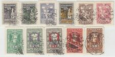LITHUANIA  1920  ISSUE  FULL SET USED MICHEL 76/86