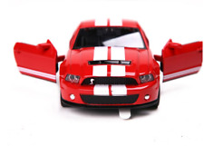 Ford Mustang GT500 Model Cars 1:32 Sound&Light Alloy Diecast Collection Toys Red