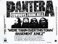 PANTERA We're Takin' Over This Town FLYER Original Exhorder Down Dimebag Darrell