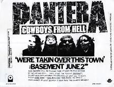 PANTERA We're Takin' Over This Town FLYER Original Merchandise Dimebag Darrell