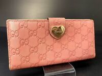 Auth GUCCI GG Pattern Leather Long Wallet Purse A-1261