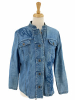 Vintage Additions By Chico's Women's Casual Blue Denim Jean Jacket Size 2 Rare