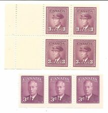 CANADA - SCOTT'S # 252a AND 286a PANES - MINT LIGHTLY HINGED