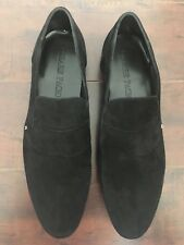 BNIB CESARE PACIOTTI CAMOSCIO Men's Black Suede Driving Loafers – US 11 D
