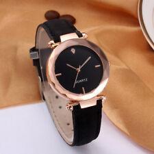 Fashion Women Leather Casual Watch Luxury Analog Quartz Crystal Wristwatch