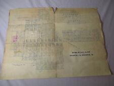 Vintage 16x21 Map Blueprint City Plans OKEMAH OKLAHOMA McKinney Dudgeon Phelan