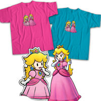 Nintendo Super Paper Mario Princess Peach Kawaii Video Game Unisex Tee T-Shirt