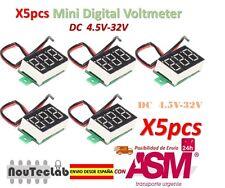 5pcs 0.36 Inch 4.5V-32V Mini Digital Voltmeter Voltage Tester Meter LED Screen