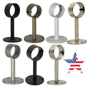 """Ceiling/Wall-Mounted Curtain Rod Brackets,Fit up to 7/8""""Diameter Drapery Rod"""