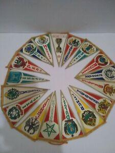 "Original Rare Mexico 1970 World Cup mini Pennants - 17 Countries!! 5.25"" x 2.50"""