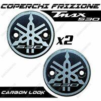 COPPIA COVER FRIZIONE CARBON LOGO DI4 ARGENTO T-MAX TMAX 500 530 2001-2016