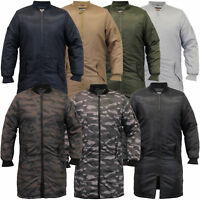 Mens MA1 Jacket Soul Star Harrington Mac Trench Coat Camo Military Padded Winter