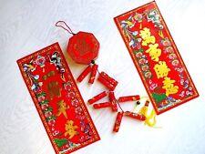 58 cm Chinese Red M artificielle des pétards 2 Fête Bannière Anniversaire JAPONAISE DECO