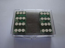DICE 4 PACK GREEN NEAR PRECISION 19MM CASINO MAGIC TRICKS CLOSE UP GAMES NOVELTY