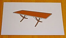 ICONIC DESIGN POSTCARD ~ MODEL AT 304 DROP-LEAF DINING TABLE ~HANS WEGNER c1960