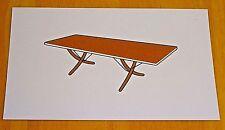 ICONIC DESIGN POSTCARD ~ MODEL AT 304 DROP-LEAF DINING TABLE ~HANS WEGNER c1960