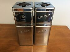 Vintage Metal Canette Kitchen Canister Set of 4 Flour Sugar Coffee Tea