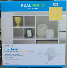 Real Simple White Cross Frame Shelf (Compatible with all storage + system)