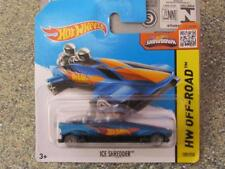 Hot Wheels 2015 #109/250 GLACE SHREDDER bleu neuf fonte TRANSPARENT Roues