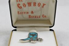 The Cowboy Hatpin & Buckle Co Boot Pin Blue Tones CC25-A-