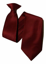 Plain clip on Workwear Tie Security Ties and Safety wedding party prom uk seller