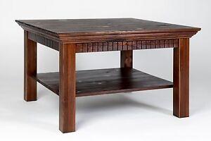 Couchtisch kolonialfarben 76x76 cm Tisch Landhausstil
