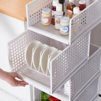 Folding Bin Plastic Storage Box Space Saving Multipurpose DIY Clothes Organizer