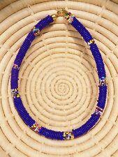 New African Maasai Beaded Choker Necklace Masai Massai ethnic tribal boho jnmr84