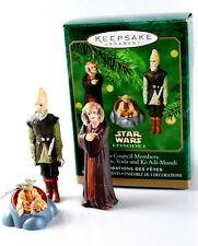 Hallmark Ornaments Star Wars JEDI COUNCIL 2000 Set/3 YODA SAESEE KI-ADI-MUNDI