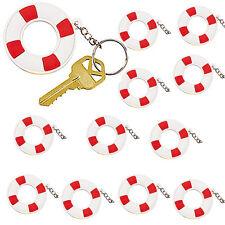 12 Nautical Sailor Life Preserver Key Chains Baby Shower Keychains Sailing Theme