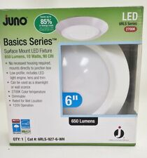 """New Juno Lighting 6RLS-927-6-WH 6"""" Surface Mount LED Fixture"""