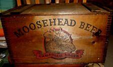 Vintage Moosehead Beer Wooden Box Crate Canadian Lager