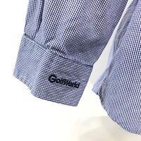 Ralph Lauren BLAKE GOLF WORLD Pony Shirt Mens Size XL Blue Checked Long Sleeve