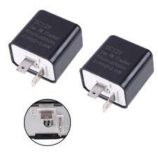 2 Pin Motorcycle LED Flasher Relay Blinker Turn Signal Flash Issue 12V 2pcs