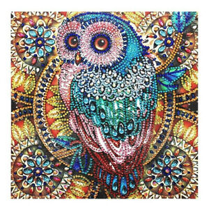 Owl 5D Full Cover Diamond Painting Embroidery Cross Craft Stitch Kit Home Decor