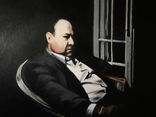 Sopranos Tony Soprano Oil Painting 30x16 NOT a print or poster. Framed.