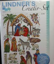 Lindner's Creativ-Set Cross Stitch Kit CS-042 Christmas Nativity No Floss